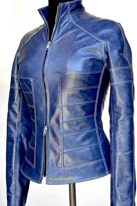 Women Classic Designer New Soft Genuine Lambskin Biker Leather Jacket