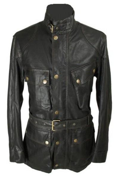 Handmade Classic Leather Jacket, Men's Genuine Will Smith Legend Biker Jacket
