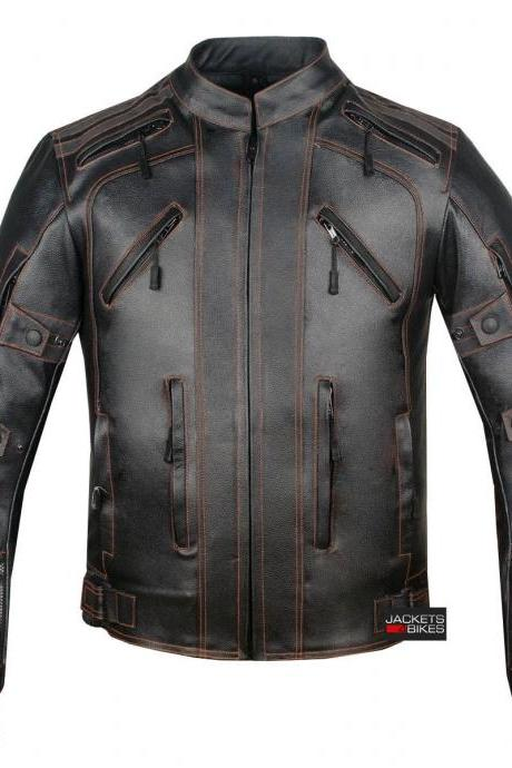 Mercury Highly Vented Men's Leather Jacket with Armor 2016