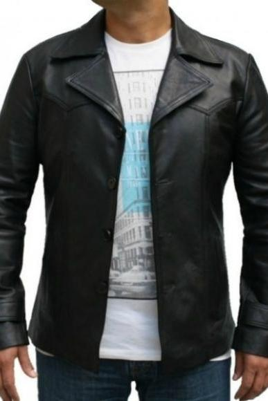 Vintage 70s Black Leather Jacket Men's Leather Jacket 2016
