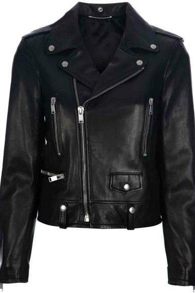 LEATHER BIKER JACKET NEW MEN'S 2016