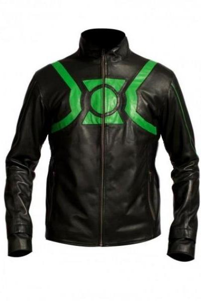 Film Green Lantern Ryan Reynolds Black Leather Jacket Men's 2016