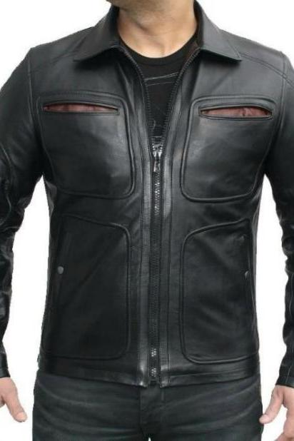 NEW FASHION STYLE LATEST BIKER LEATHER JACKET MEN'S 2016