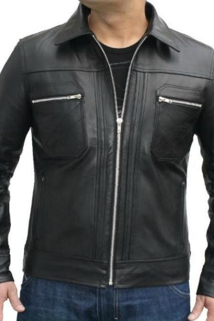 NEW FASHION STYLE MS LATEST BIKER LEATHER JACKET 2016 MEN'S
