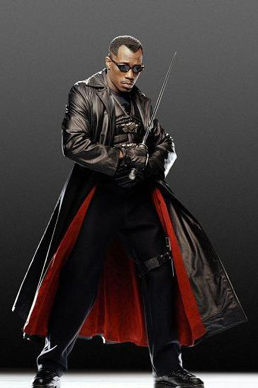 WESLEY SNIPES BLADE TRENCH ORIGINAL LEATHER COAT 2016 MEN'S