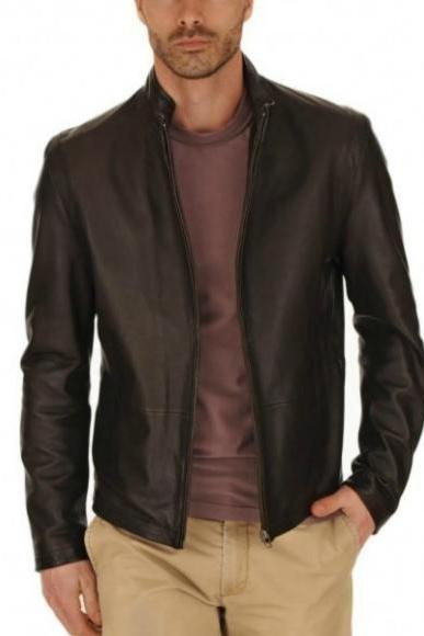 SOFT LAMBSKIN BOMBER LEATHER JACKET MEN'S 2016