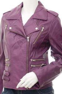 ELEGANT ZIPPER STYLE PURPLE LEATHER JACKET 2016 MEN'S