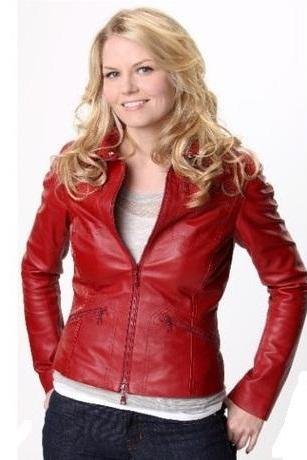 EMMA SWAN(ONCE UPON A TIME) RED LEATHER JACKET 2016 WOMAN'S