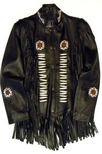 WOMAN'S NATIVE AMERICAN TUSSLE ORIGINAL LEATHER JACKET 2016