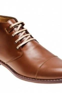 MEN'S BROWN TOE FINISHED HANDMADE LEATHER BOOTS 2016