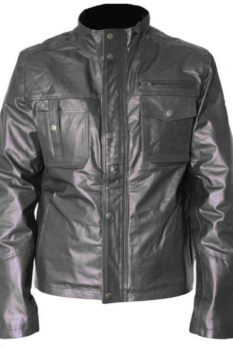 Custommade Slimfit Black Leather jacket