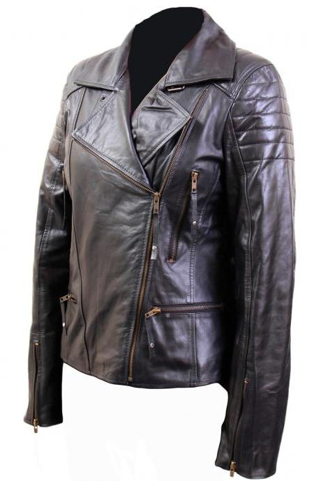 Black Front Four Pocket Brando Style jacket