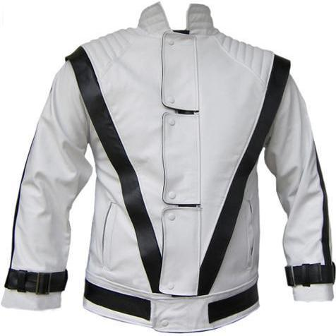 WHITE LEATHER JACKET , Men's Leather Jacket