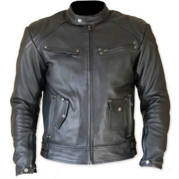 Gray Motorbike Racing Leather jacket Men 2016