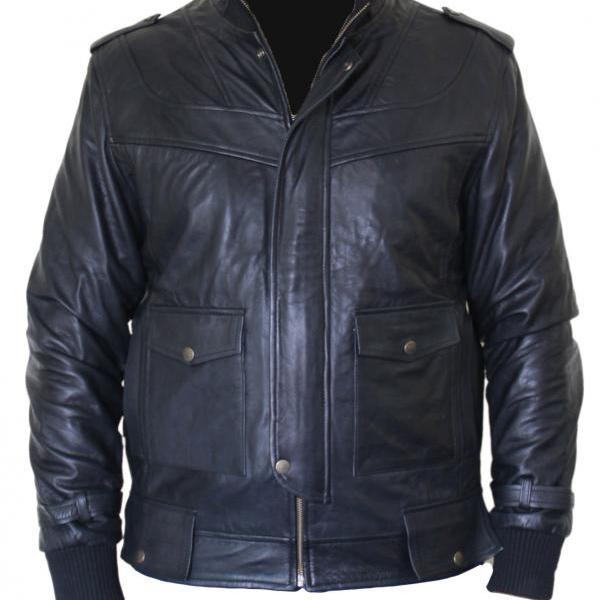 Mens Armor Black Leather Jacket, Mens Jacket